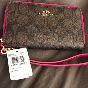 Brand new double zip coach wallet